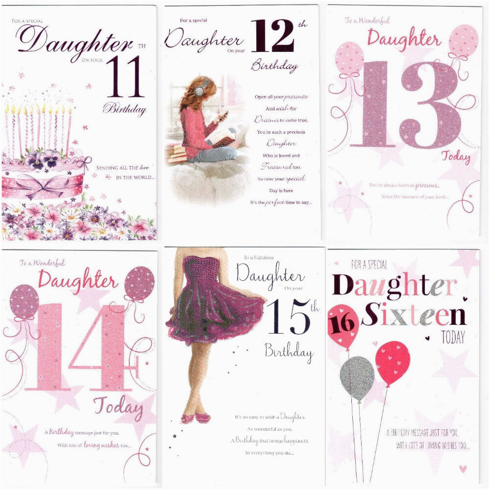 Daughter 13th Birthday Card 11th 12th 14th 15th Or 16th