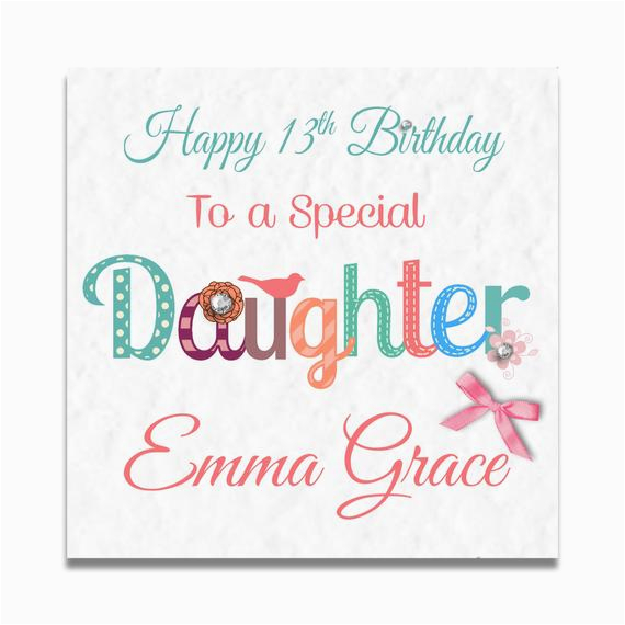 Daughter 13th Birthday Card Items Similar To Personalised Girls 8th 9th 10th 11th 12th