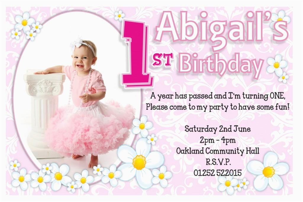 Daughter Birthday Invitation Sms 1st Invitations Ideas For Girl Bagvania Free