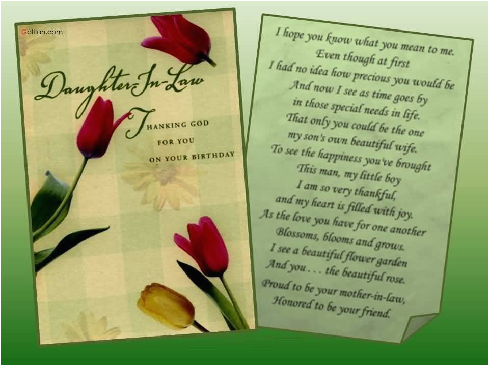 daughter in law birthday cards verses 55 beautiful