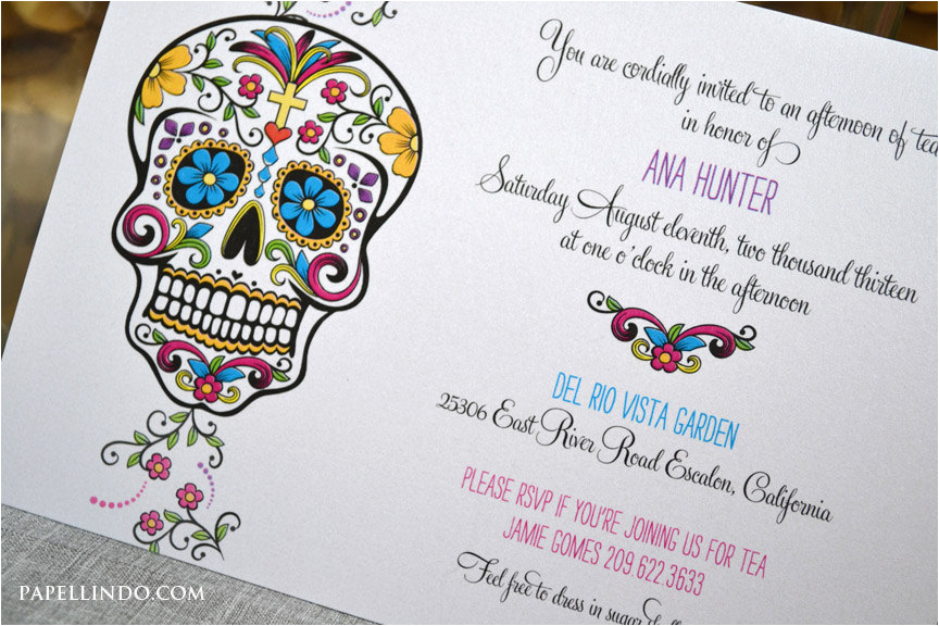 diy printable day of the dead invitation