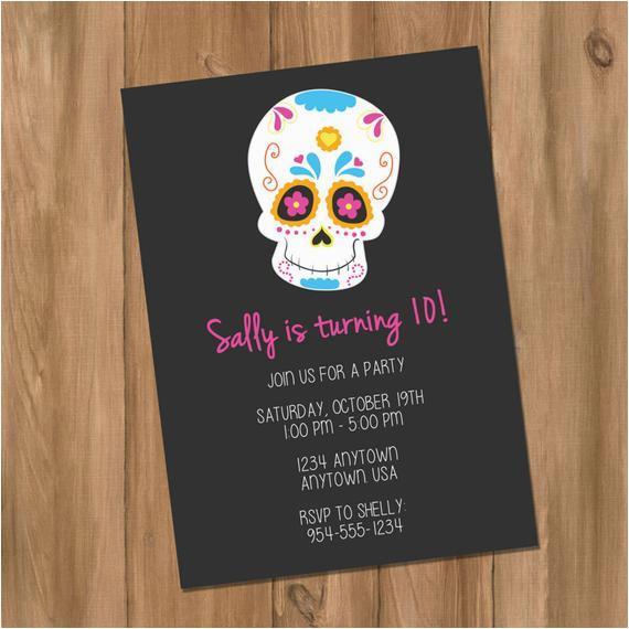 sugar skull day of the dead birthday