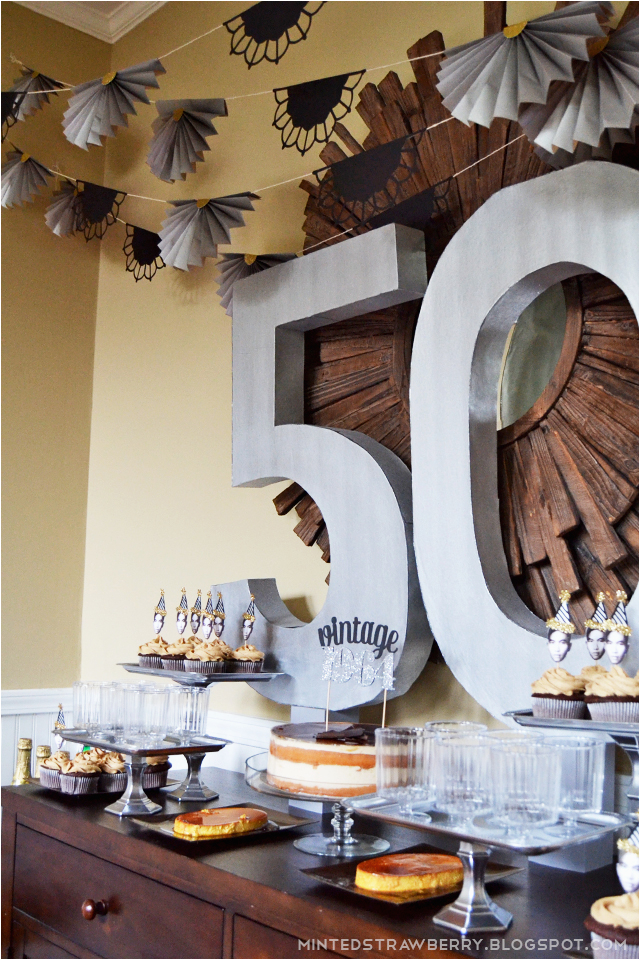 Decor Ideas for 50th Birthday Party Diy 50th Birthday Party Decorating Ideas Minted Strawberry