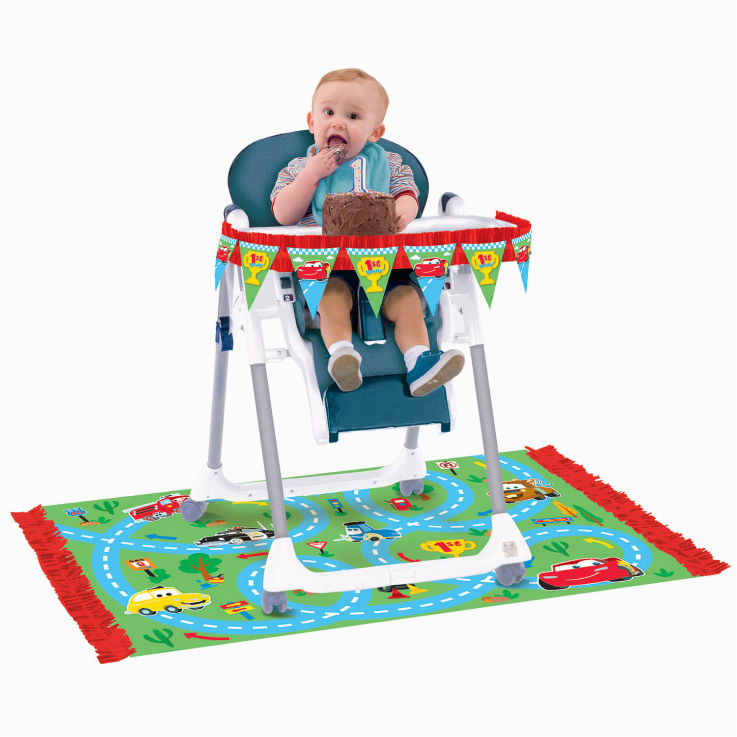 disney cars party supplies 1st birthday high chair decorating kit