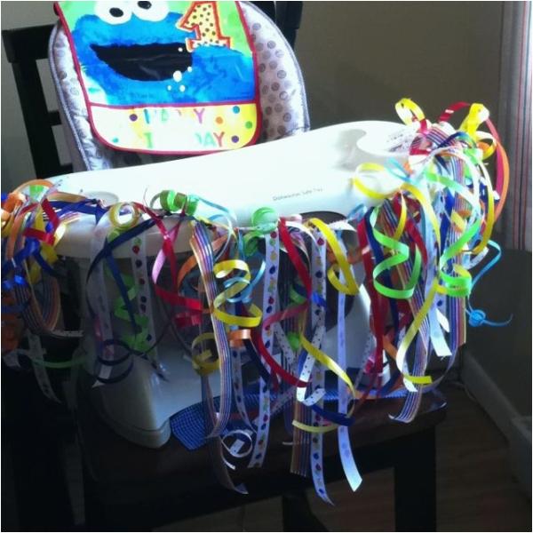 first birthday high chair decoration