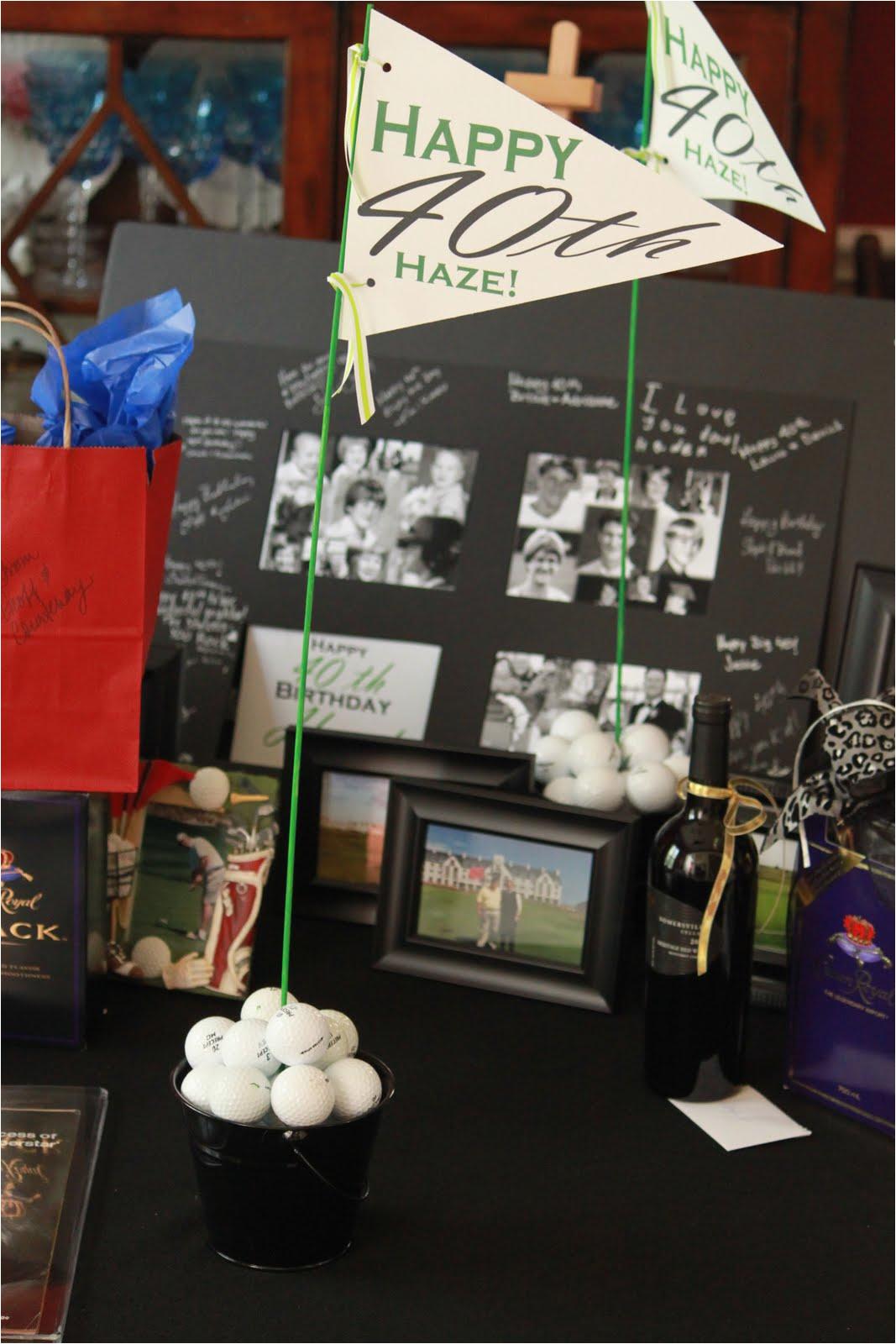 40th birthday golf party decorations m 1