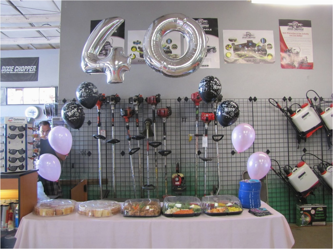 the ideas for the fun yet adorable 40th birthday party decorations