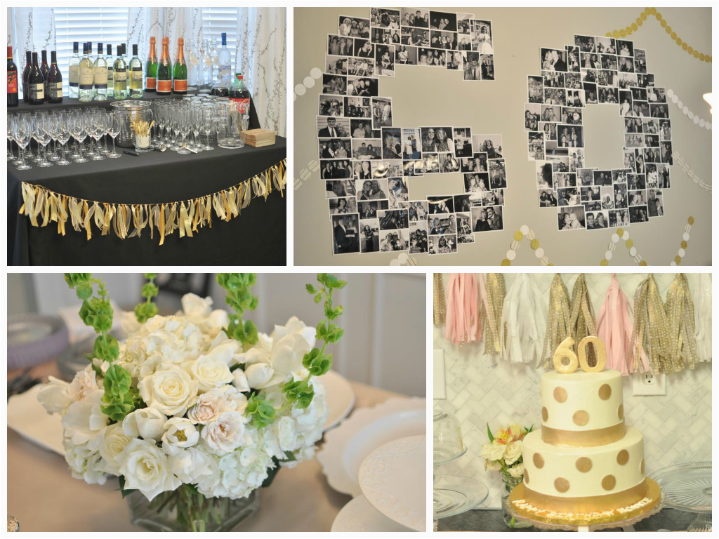 60th Birthday Party Centerpiece Ideas