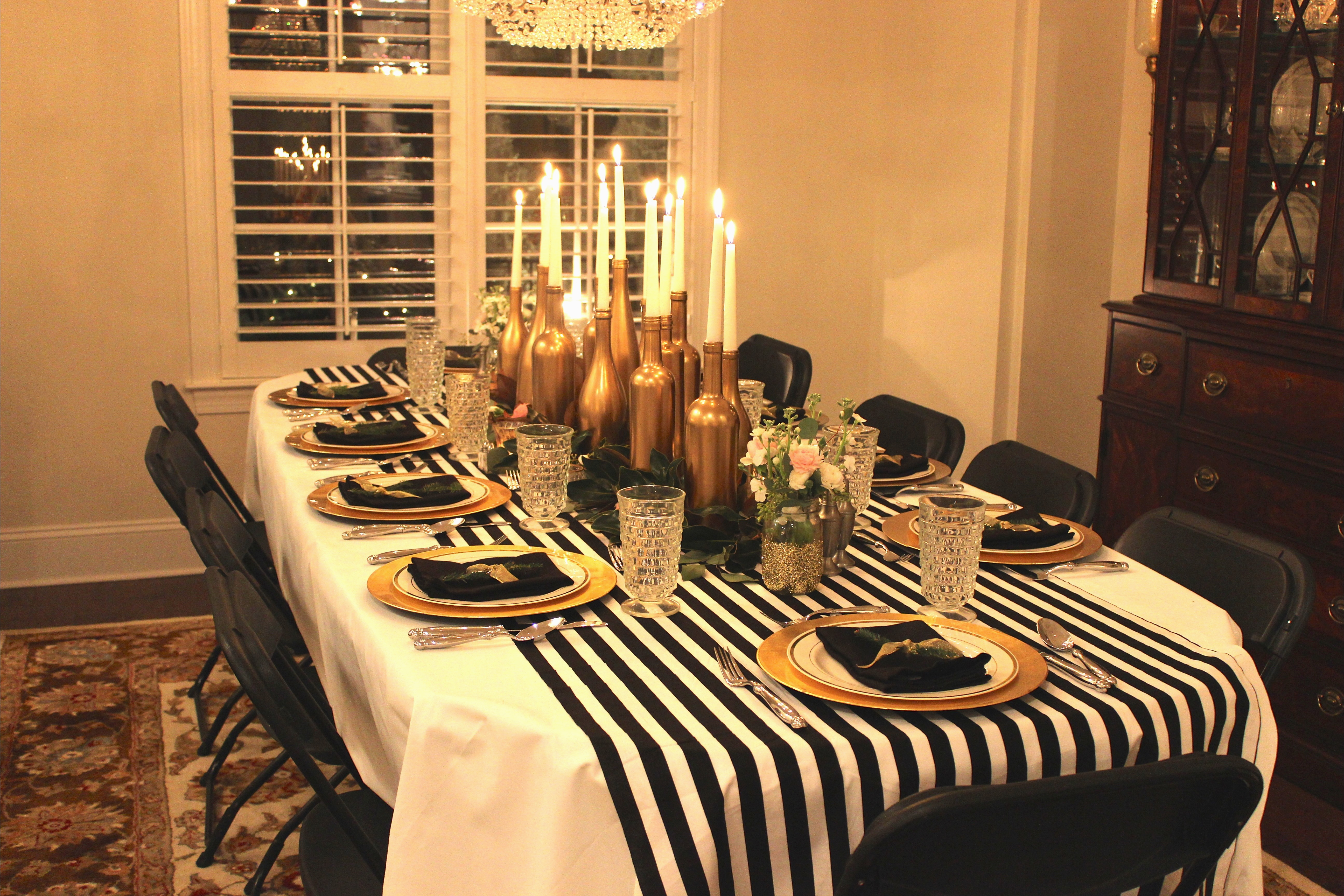 gold black and white my 30th birthday dinner party