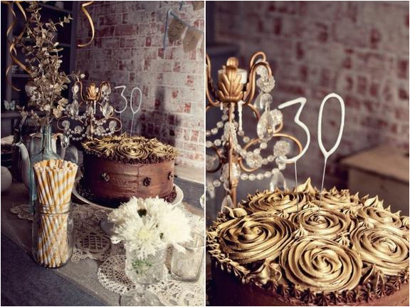 trendy 30th birthday decor