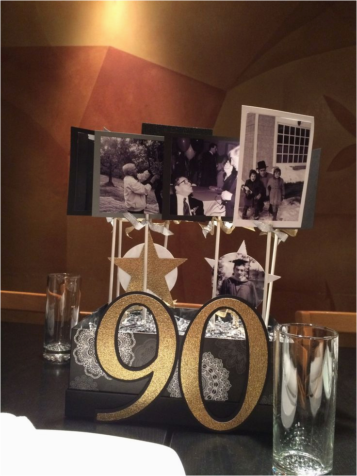 90th Birthday Tableware 90 Years Classy Black Sc 1 St Partypro Com