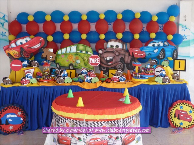 Decoration Ideas Lightning Mcqueen Birthday Party Cars For