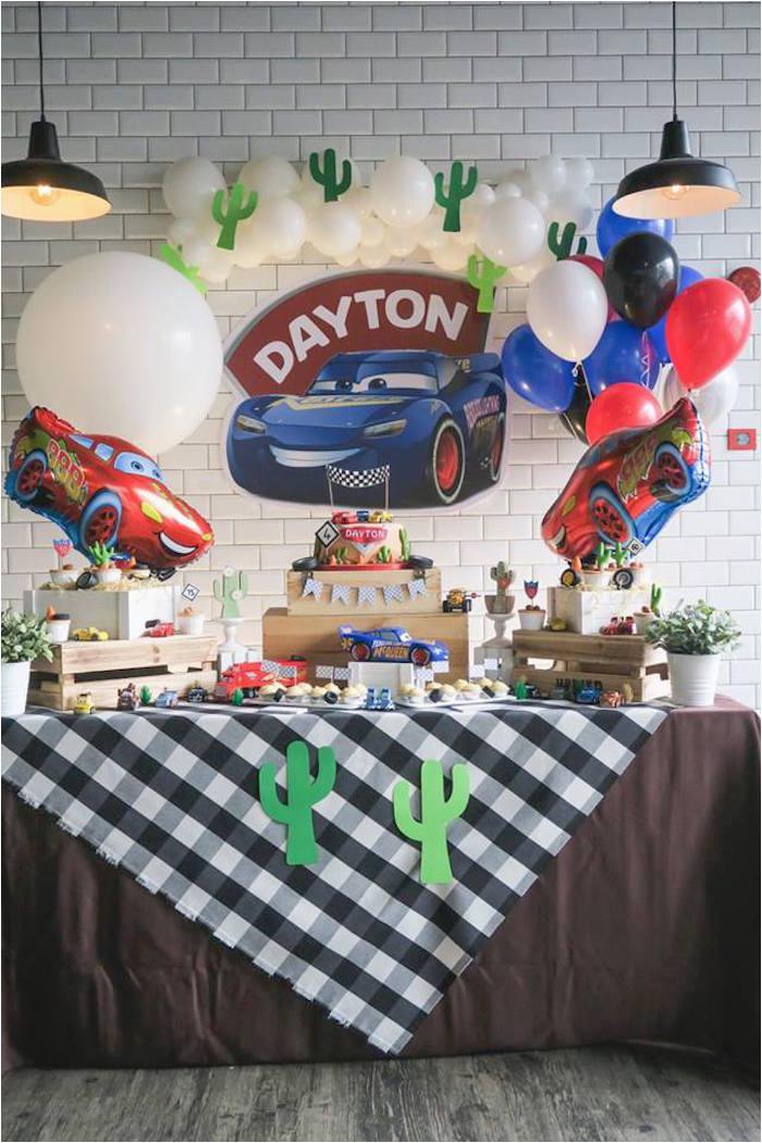 lightning mcqueen cars birthday party