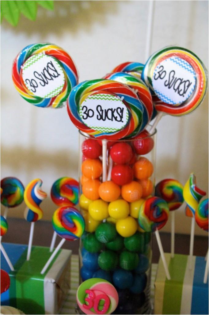 30th birthday theme party ideas 30 sucks