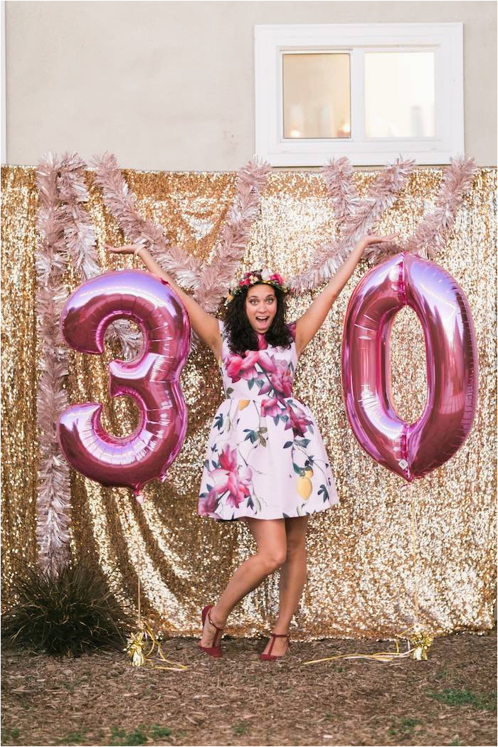 Decorations For A 30th Birthday Party Kara 39 S Ideas Sparkly Bash