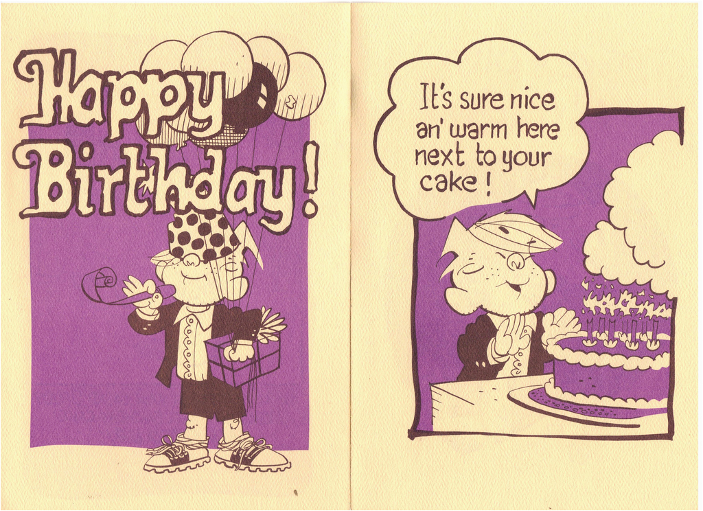 dennis the menace birthday card 15 vintage dennis the