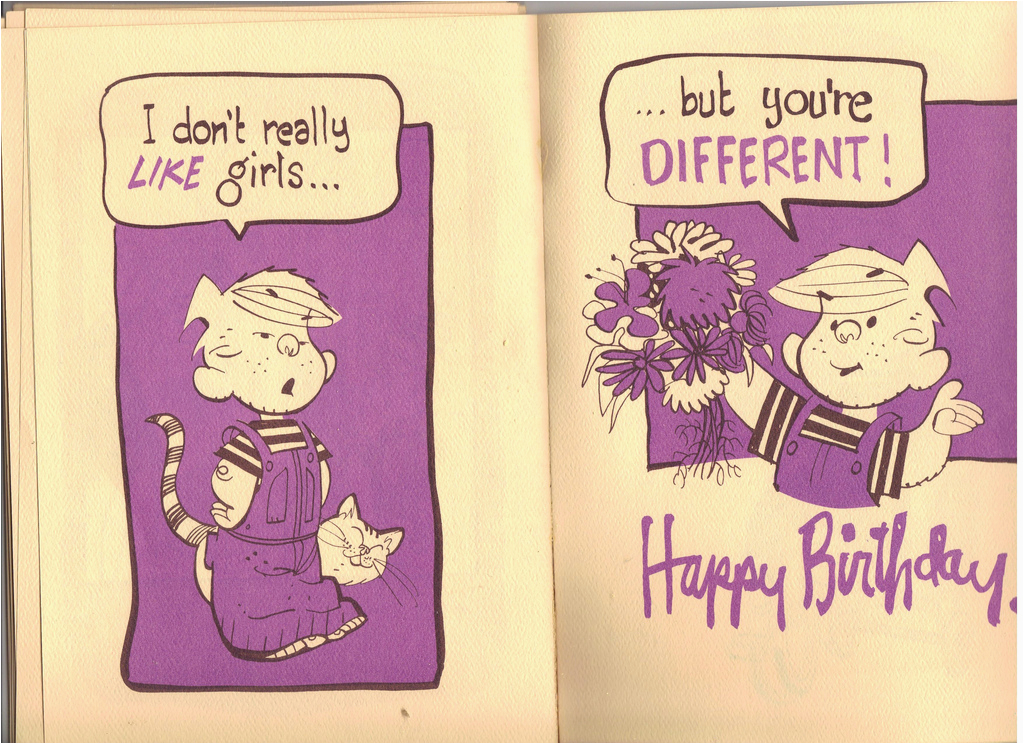 dennis the menace birthday card 17 vintage dennis the
