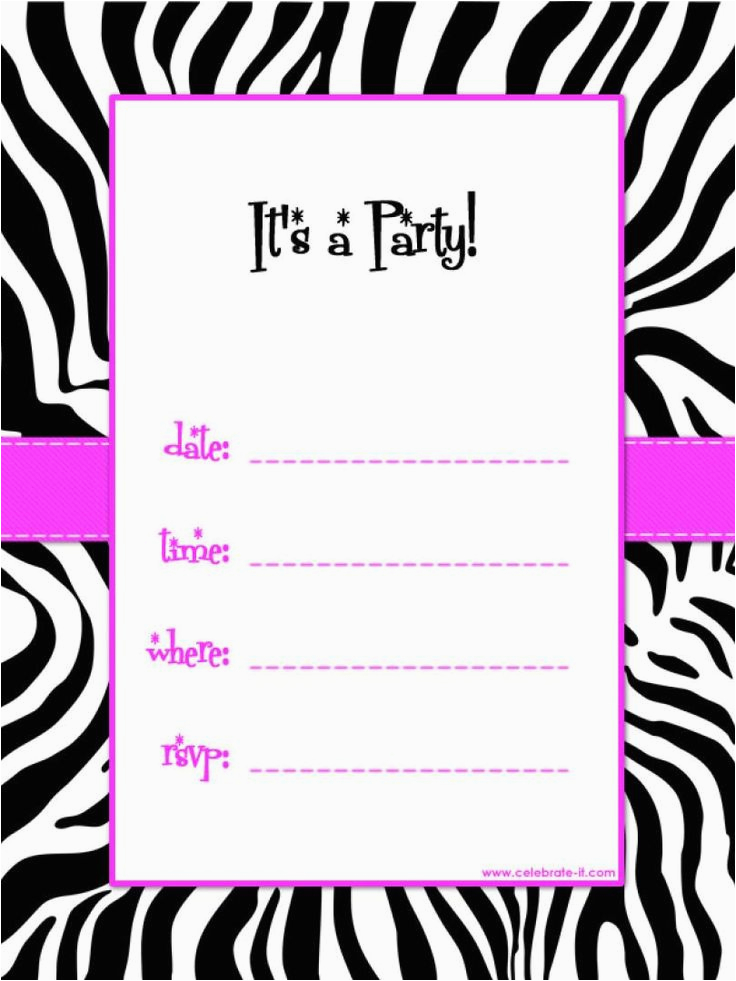 birthday party invitation templates free printable