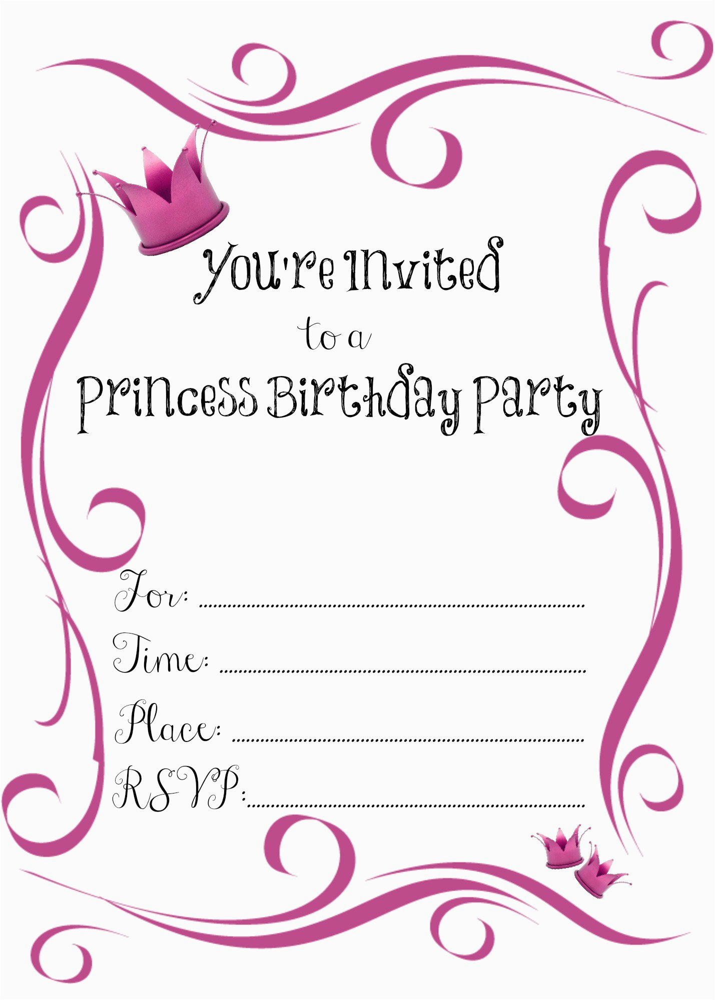 design birthday invitations free printable