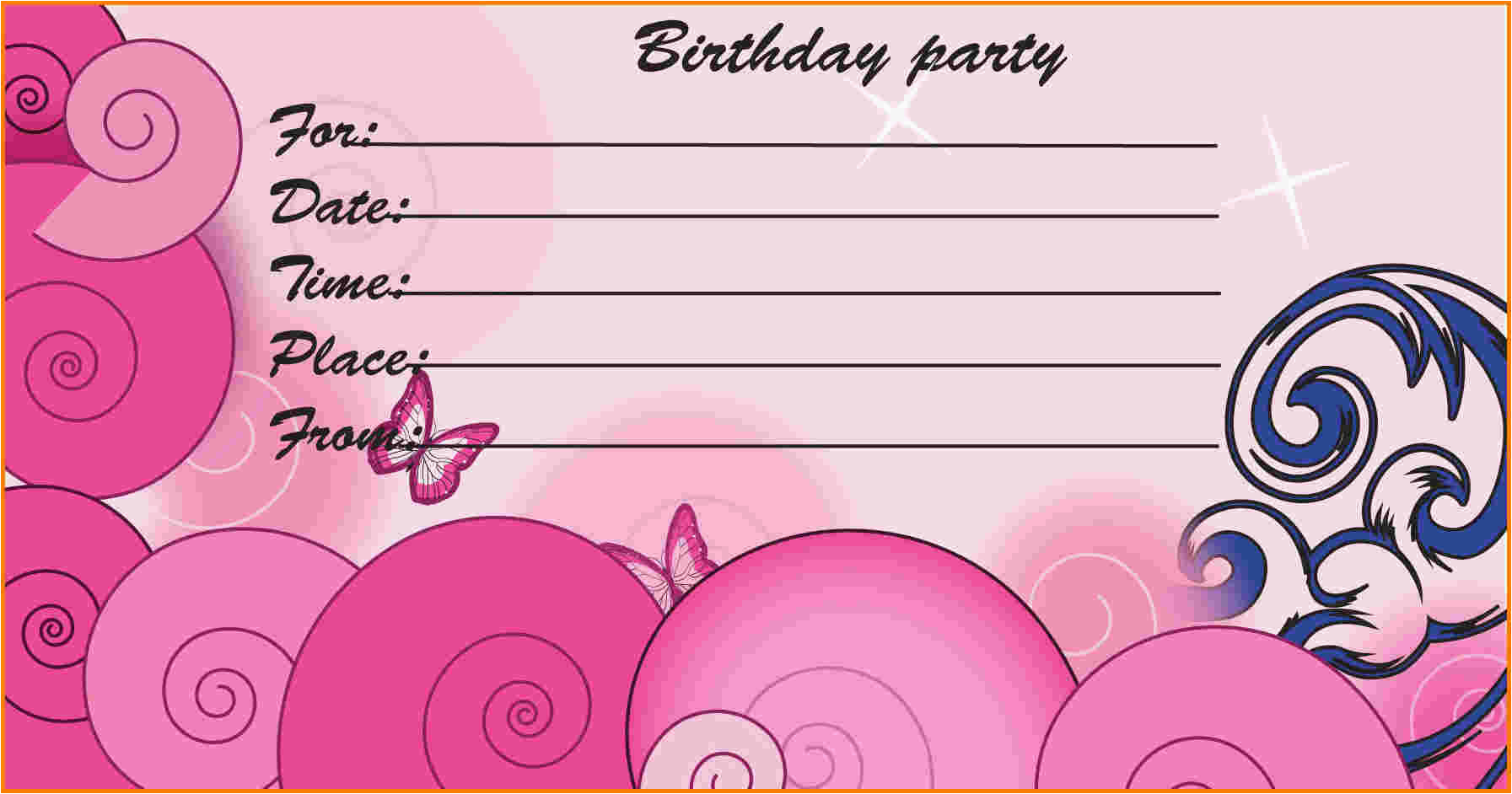 free printable birthday invitations many different kinds invitations designs
