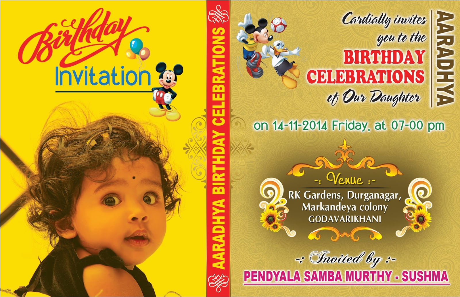 Design Birthday Invitation Cards Online Free Card Cover Psd Template