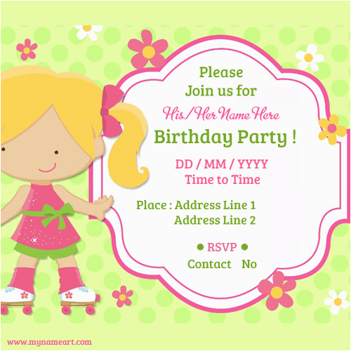 Design Birthday Invitation Cards Online Free Child Party Invitations Wishes Greeting Card