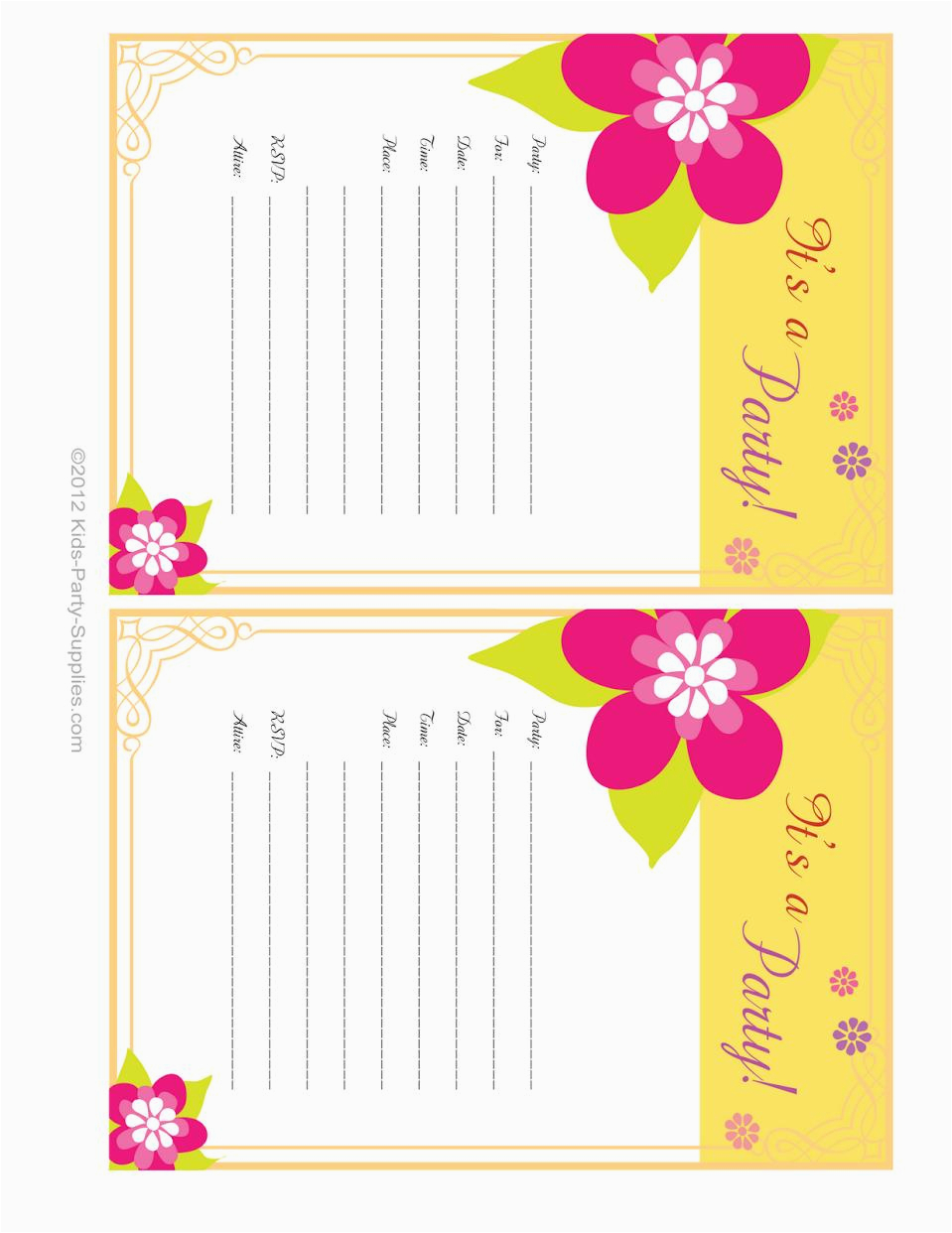 13 year old birthday invitations free printable
