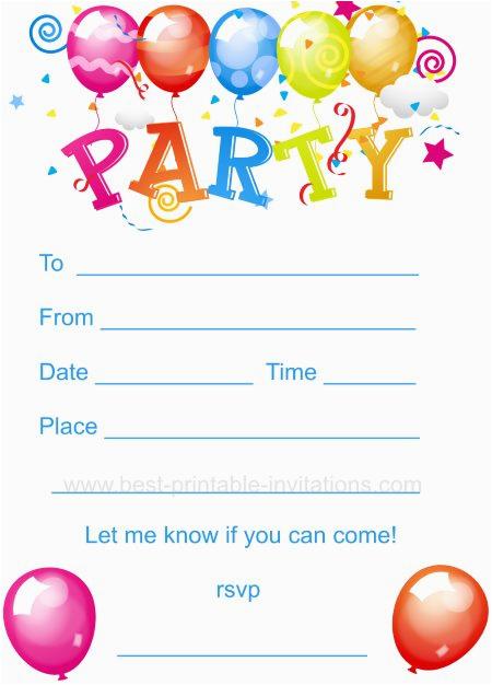 kids birthday party invitation kids party invites free printable kids birthday party invites