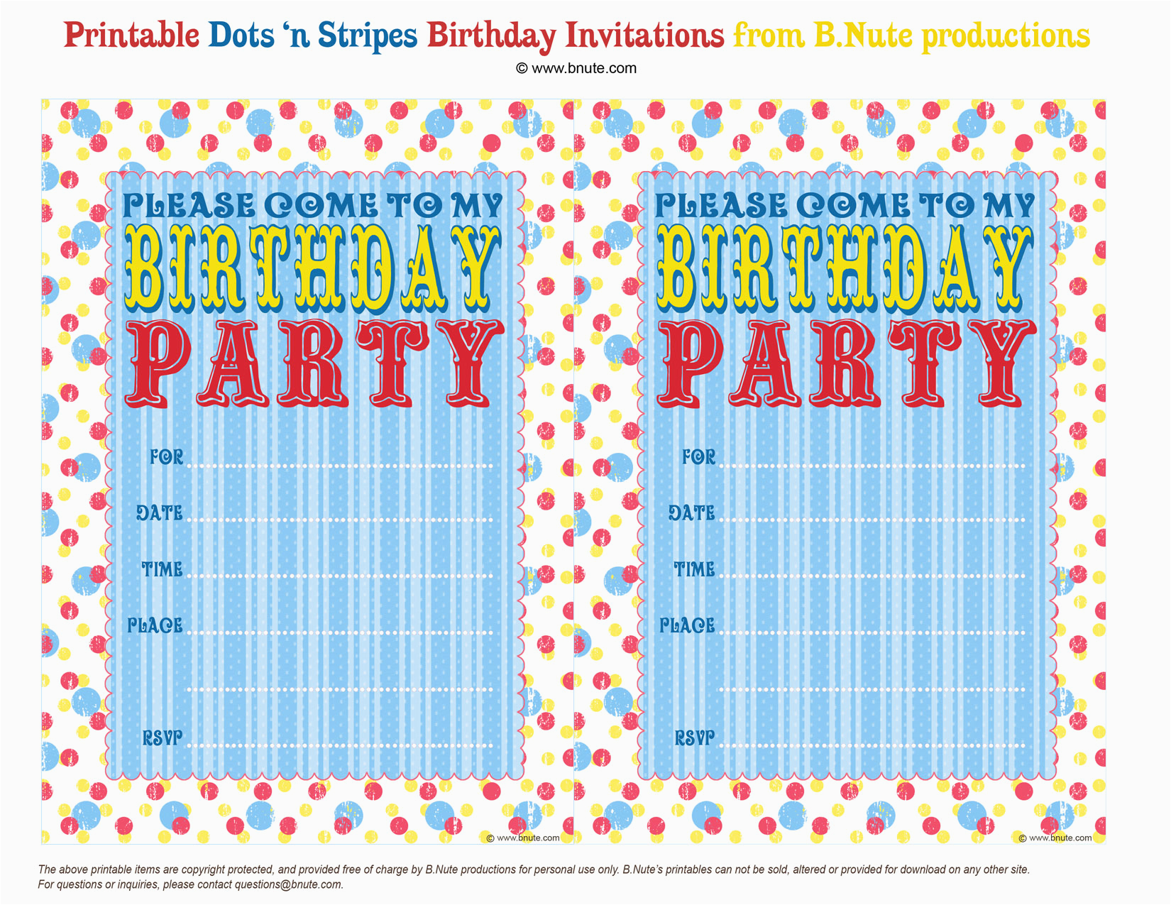 create your own birthday party invitations free
