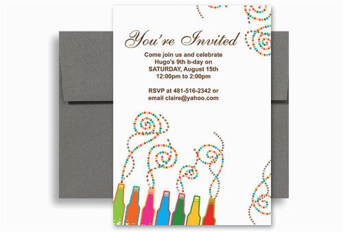 Design Your Own Birthday Invitations Free Printable Create Your Own Printable Birthday Invitation 5×7 In