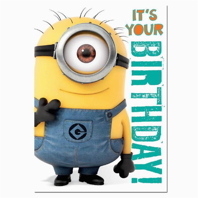 despicable me 2 minions sound birthday card from ocado