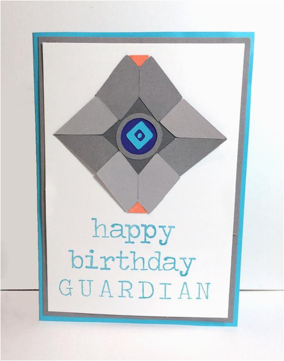 destiny inspired birthday card