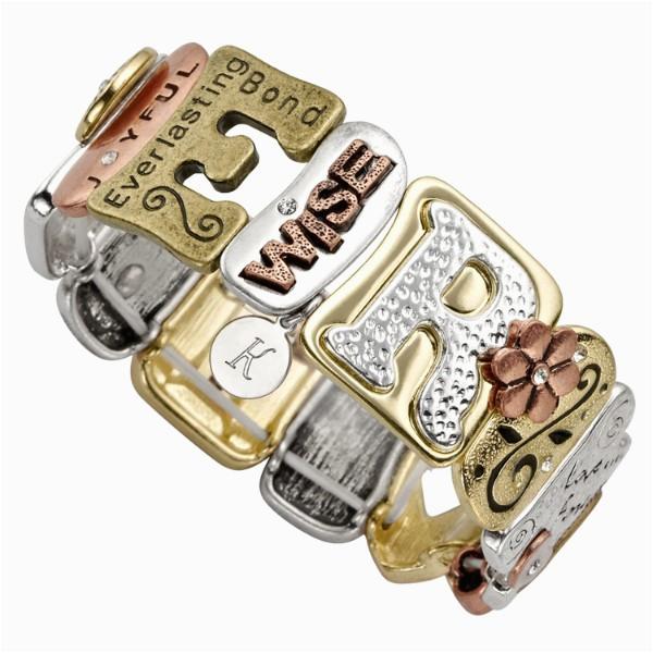 sentiment tile bracelet