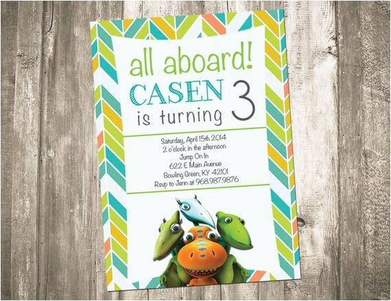 Dinosaur Train Birthday Invitations Free Party Invitation By Custompartydecor