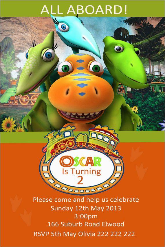 dinosaur train photo birthday invitation diy printing