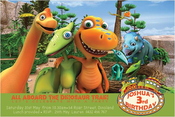 nickelodeon dinosaur train boy birthday party invitations