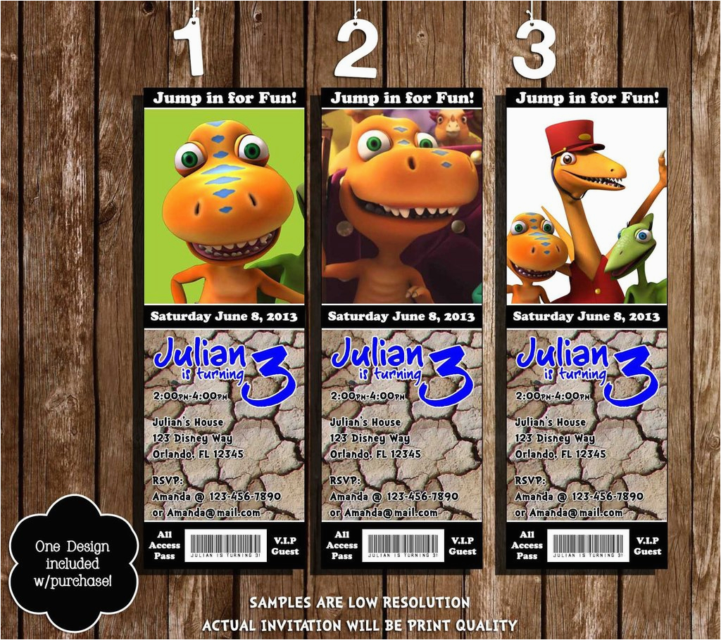 Dinosaur Train Birthday Invitations Free Novel Concept Designs Show Party