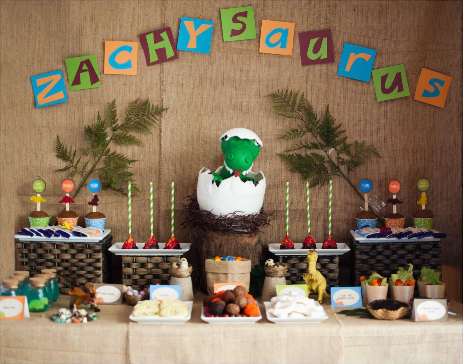 a super cute dinosaur themed birthday