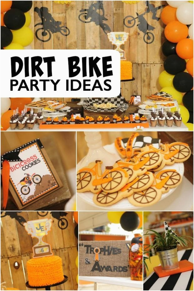 bike themed birthday boy party ideas bicycle dessert table favor