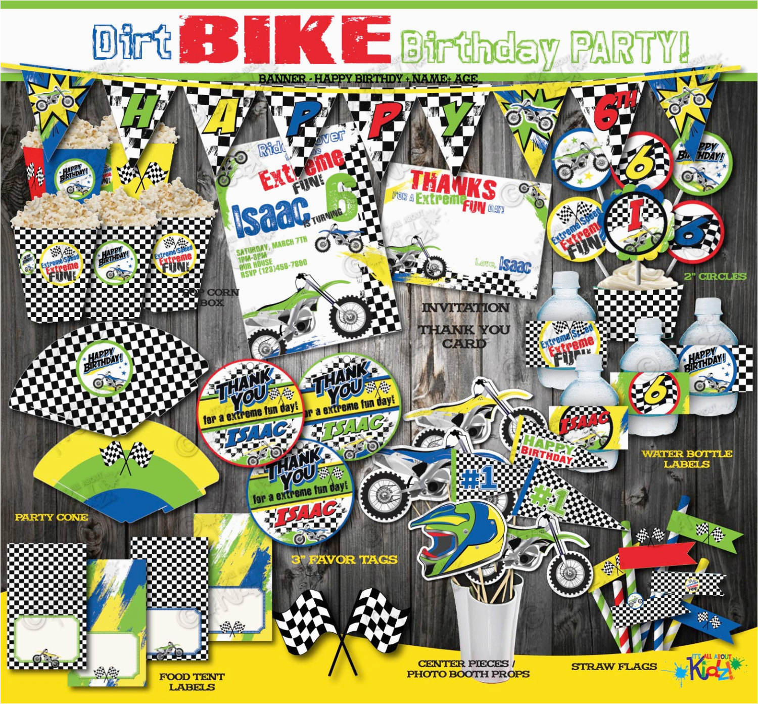 Dirt Bike Birthday Decorations On Sale Packagedirt Party Package