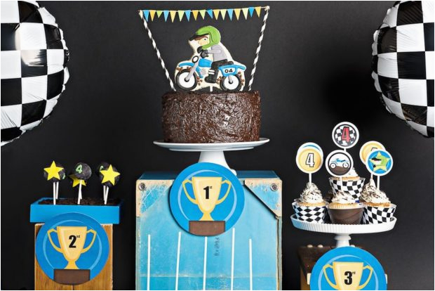 Boy Bash Dirt Bike Birthday Dessert Table