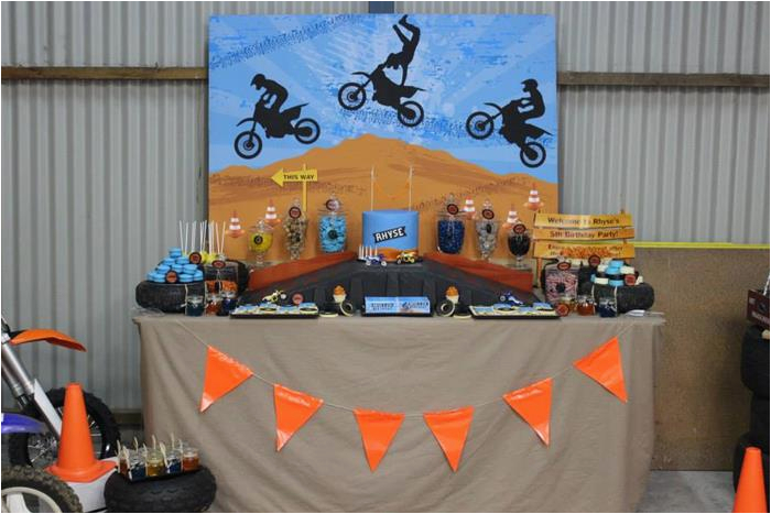 Dirt Bike Decorations For Birthday Party Kara 39 S Ideas Planning