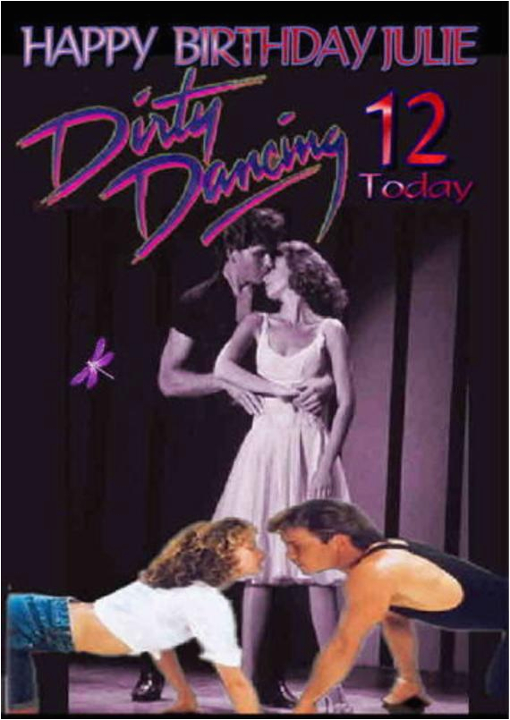 personalised dirty dancing birthday card large a5