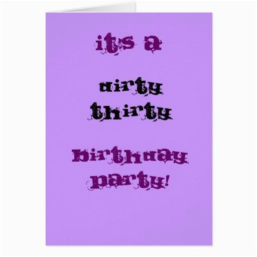 dirty thirty birthday party card zazzle