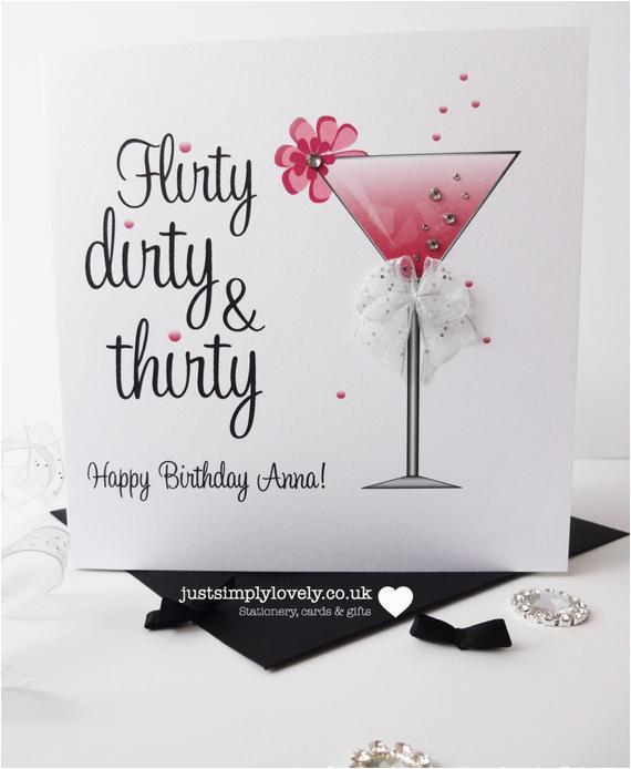 flirty dirty thirty birthday card