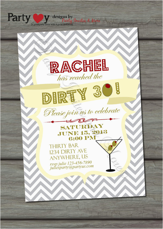 Dirty Thirty Birthday Invitations Dirty 30 Birthday Quotes