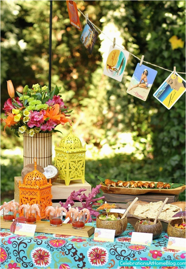 party decorations tropical