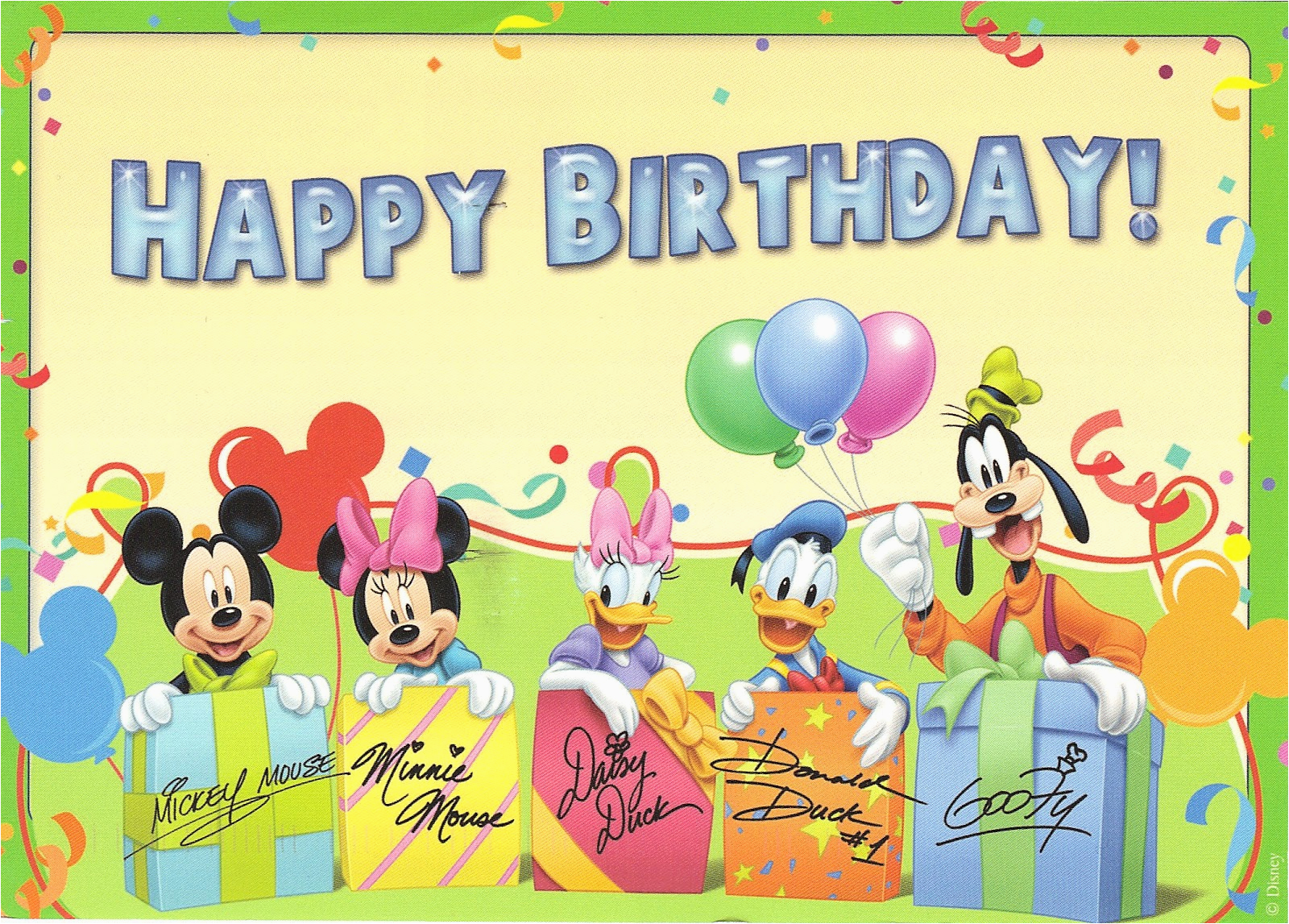 disney happy birthday clipart clipart suggest