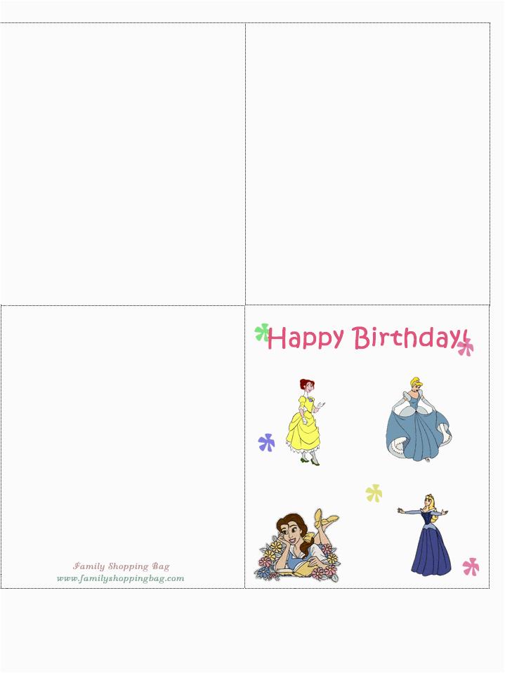 Disney Birthday Cards Online Free Printable