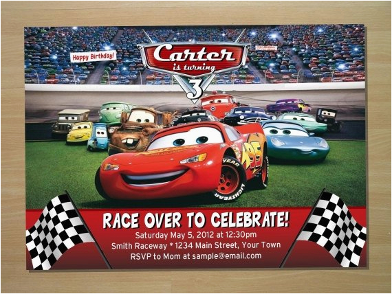 Disney Cars Personalized Birthday Invitations Invitation Digital File By